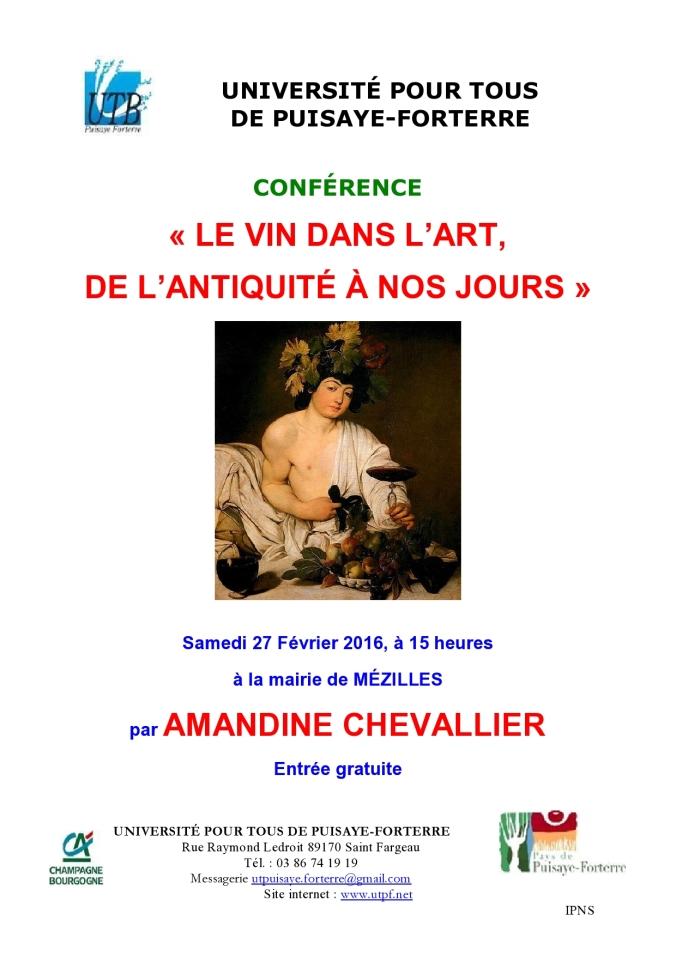 Affiche conférence Amandine Chevallier