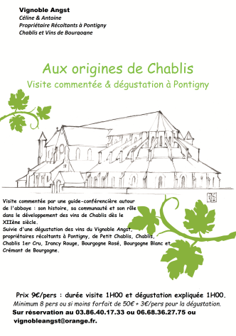 Visite-dégustation à Pontigny
